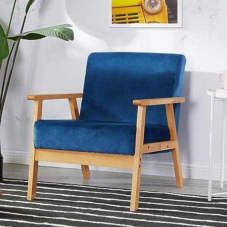 LiePu Fauteuil de Salon Scandinave, Petit Canapé Chaise ...