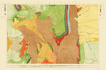 Amazon.com: Topographical Map - Colorado Rocky Mountains ...