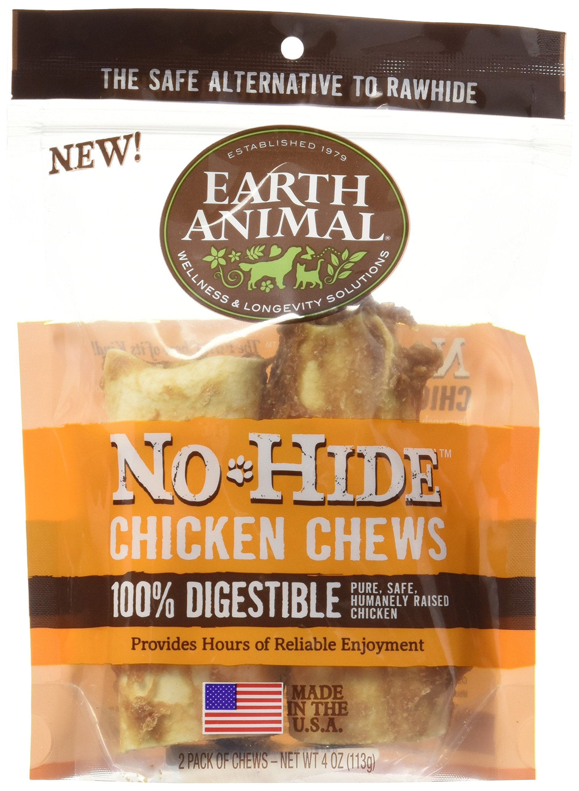 Earth Animal NoHide Chicken Chews 2 Pack (4 oz) by No-Hide Chicken Chews (Image #1)