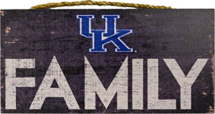 NCAA Kentucky Wildcats 6 x 12 All I Need is Basketball Friends and Family Wood Sign