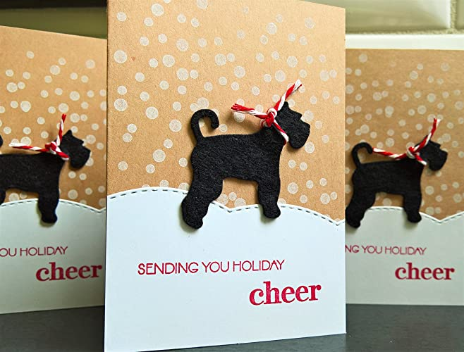 Amazon Com Dog Holiday Cards Set Of 3 Christmas Greeting Cards