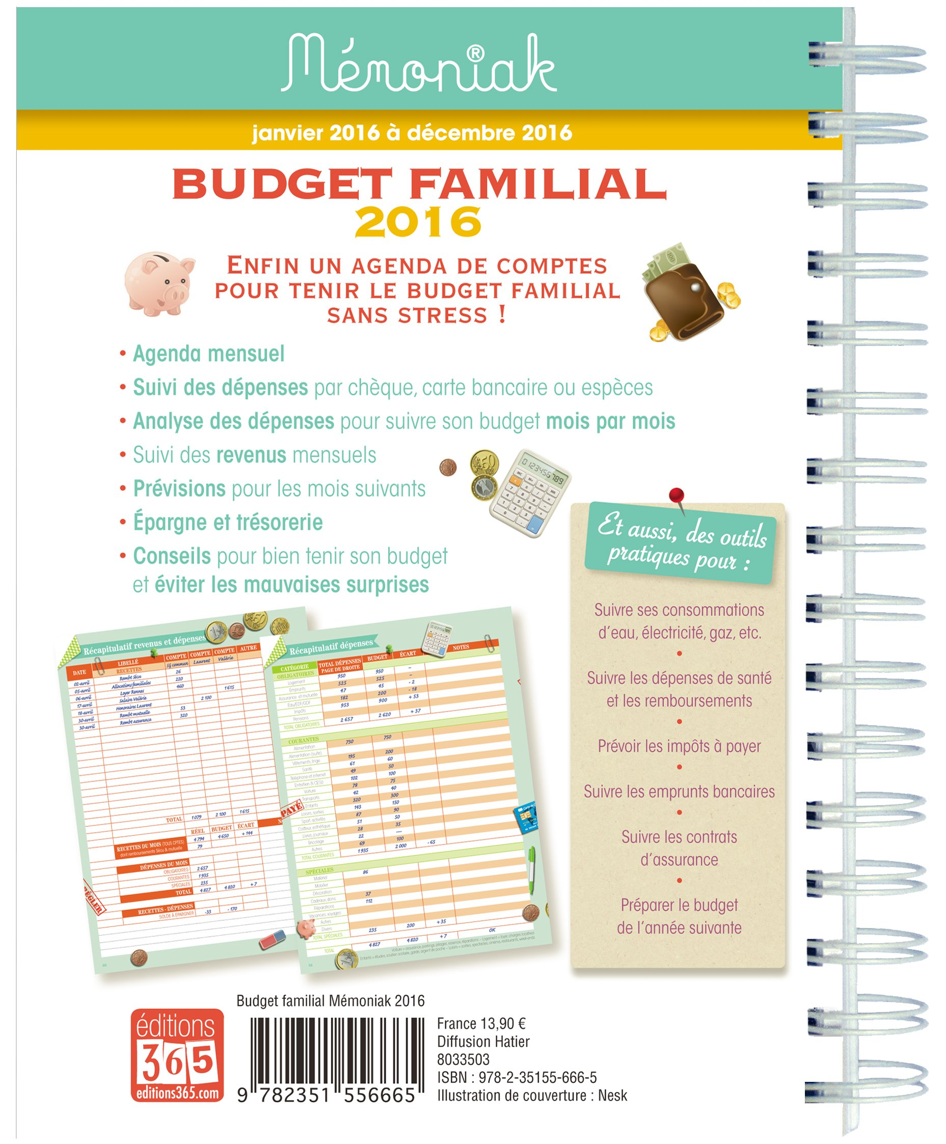 Sehr BUDGET FAMILIAL MEMONIAK 2016: Amazon.fr: Livres IT61
