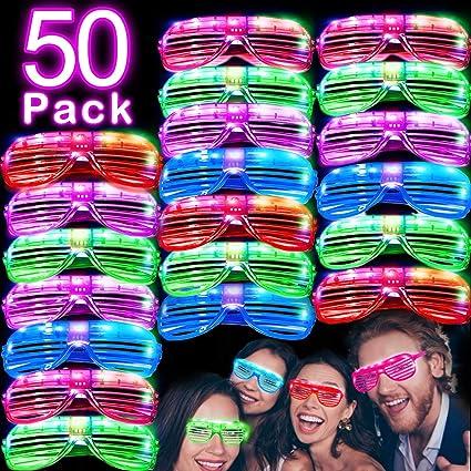 Amazon.com: Paquete de 50 gafas de sol con luz LED que ...
