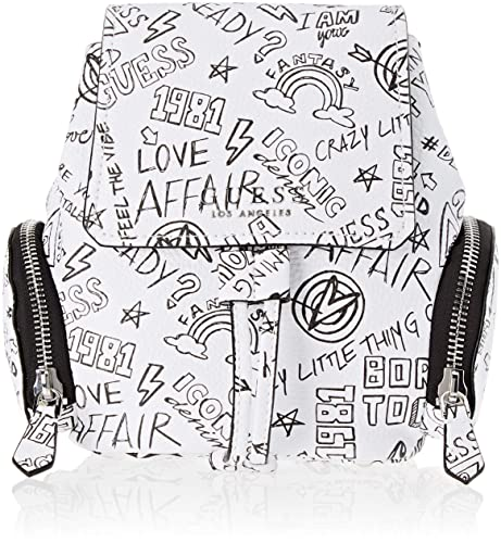Guess - Sally, Mochilas Mujer, Multicolor (Graffiti/Gft), 29x23x13 cm