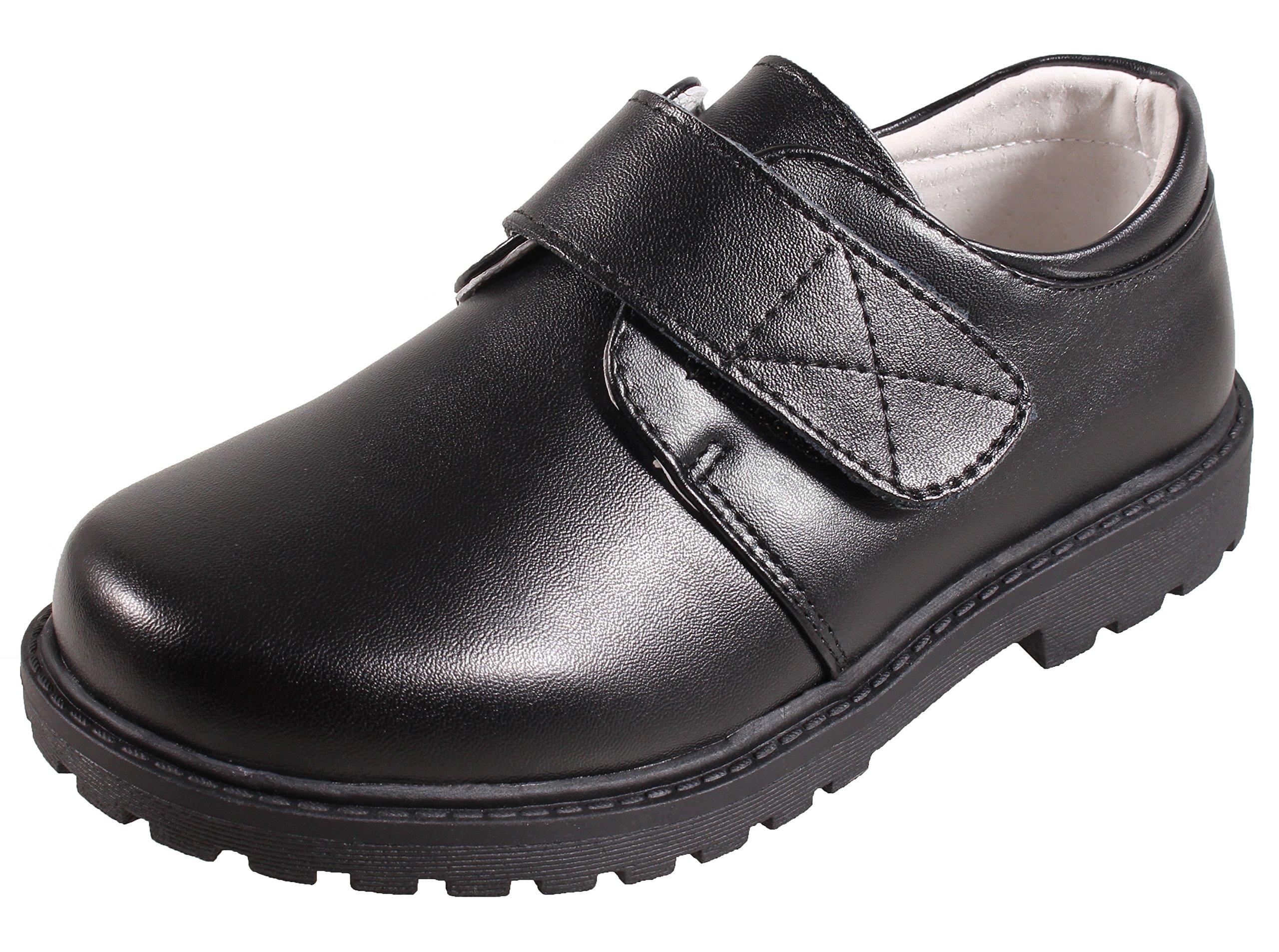 Boys Leather Black School Uniform Dress Oxford Outdoor Shoe(Toddler/Little Kid/Big Kid) Size 10 M US Toddler Kid