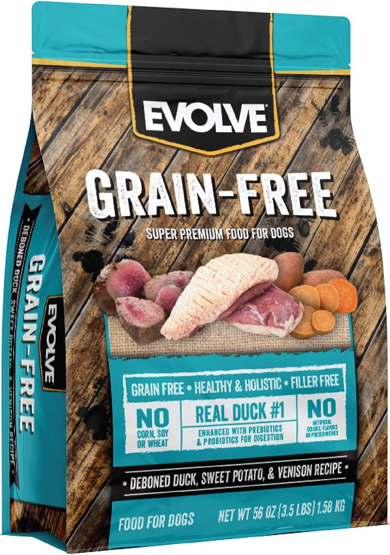 Evolve Super Premium Grain Free Dog Food Diets Deboned Duck, Sweet Potato And Venison