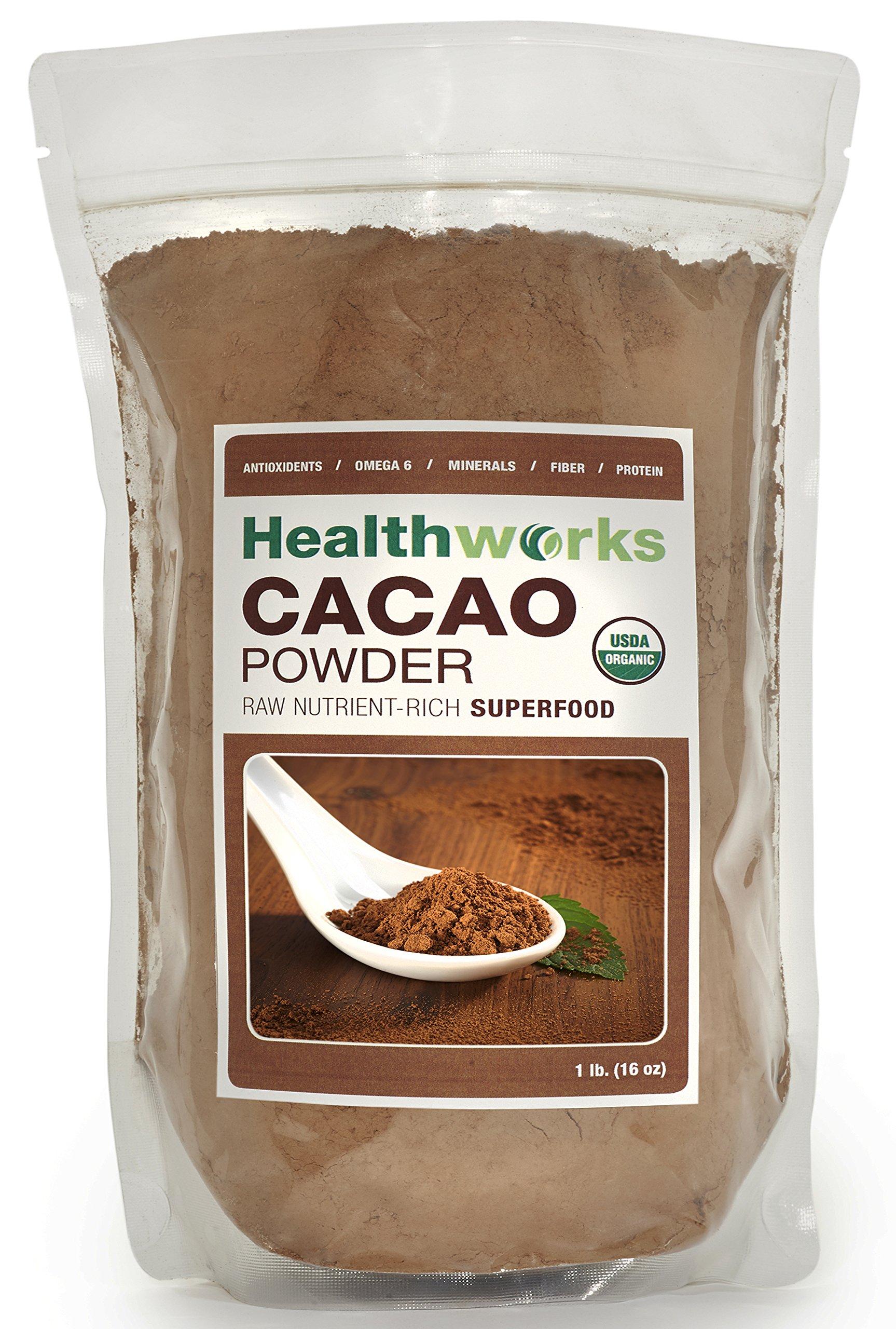 Healthworks Cacao Powder Raw Organic 1Lb 16 Ounce 8