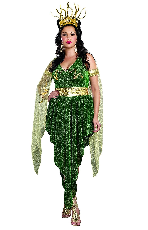 Amazon.com: Dreamgirl Women\'s Plus-Size 3-Piece Medusa Costume ...