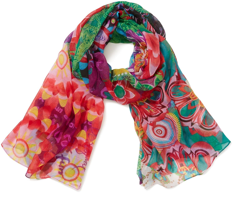 Desigual Paulina - Pashmina, donna, Multicolore (Mehrfarbig (Maracuya)),  Taglia unica: Amazon.it: Abbigliamento