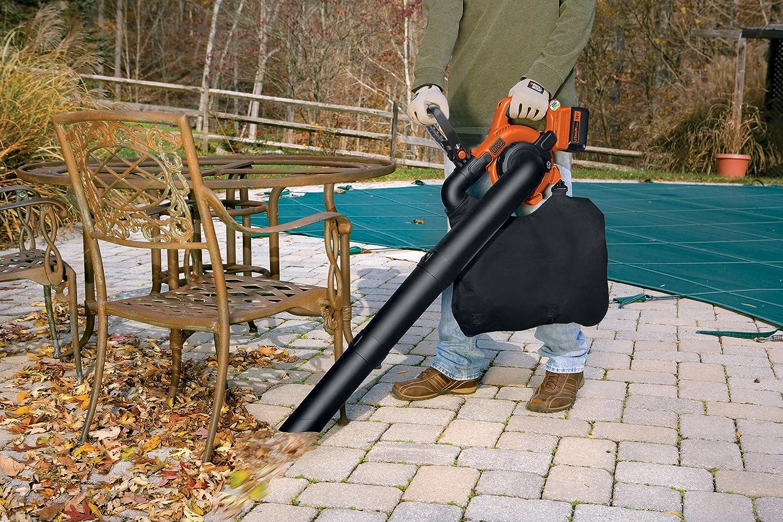 Decker Lithium GWC3600L20 Aspirateur-souffleur à feuilles 3 en 1 avec batterie au lithium 36 V 2 Ah GWC3600L20-QW Black
