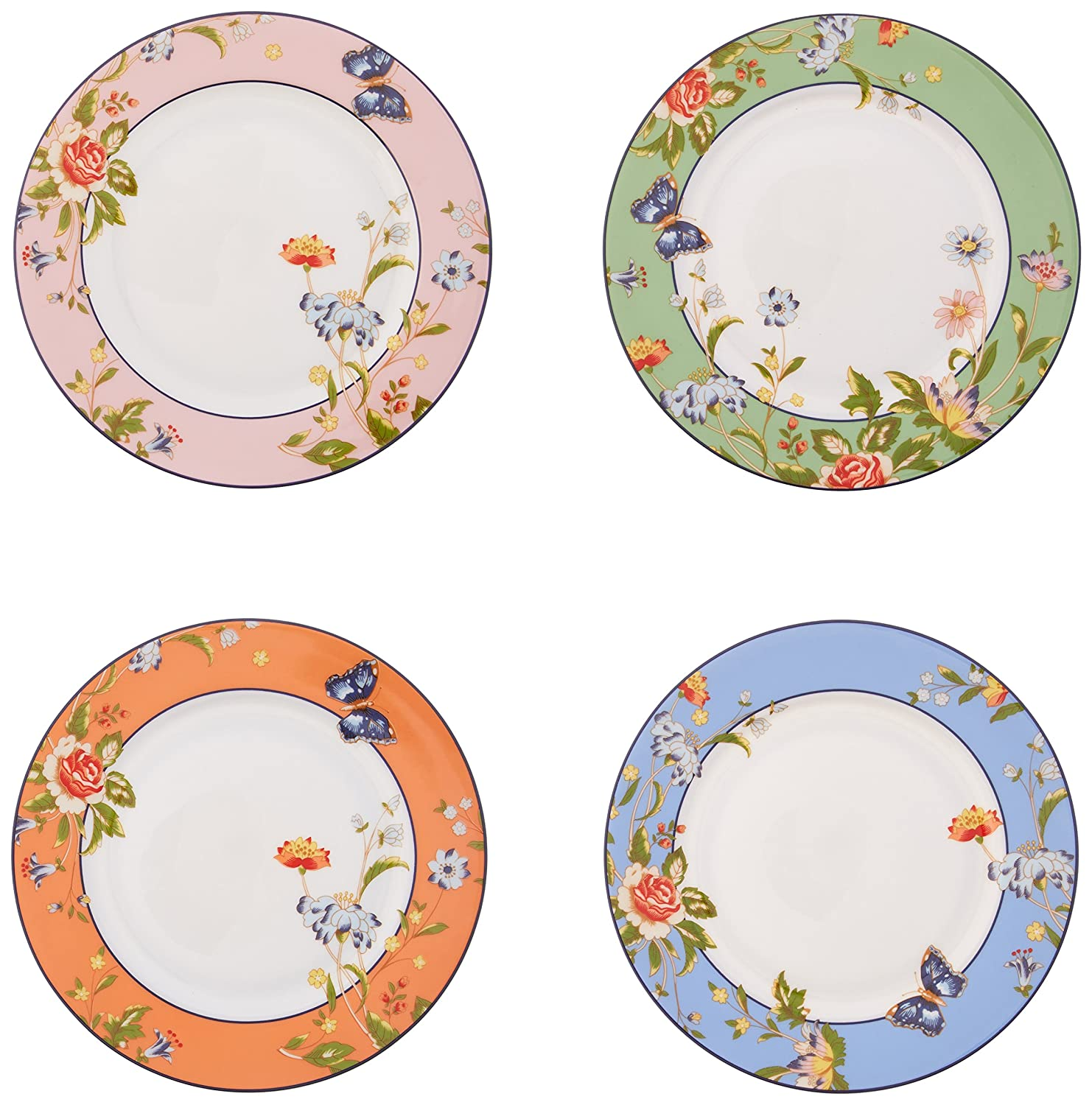 Belleek Cottage Garden Mixed Plates, Multicolor CLAS20004