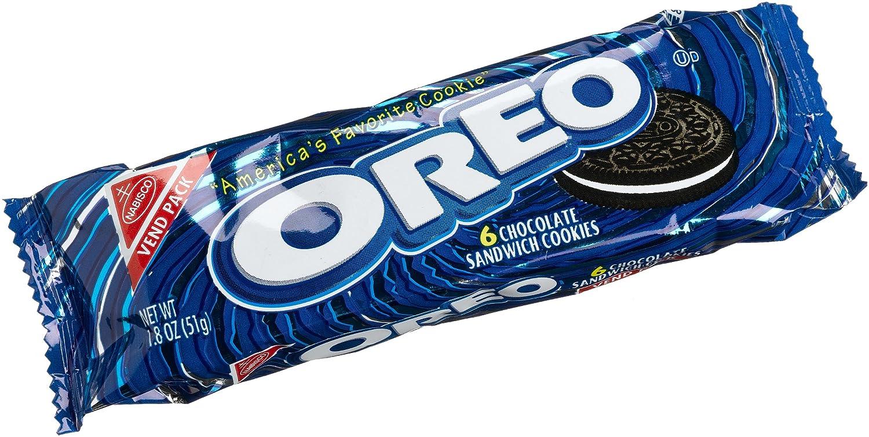 amazon com oreo chocolate sandwich 6 count cookies 1 8 ounce rh amazon com Oreo Cookies free clipart oreo cookies