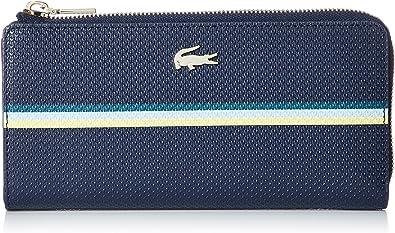 Lacoste Chantaco Fantasie Slim Zip Wallet Strip Multico Peacoat: Amazon.es: Zapatos y complementos