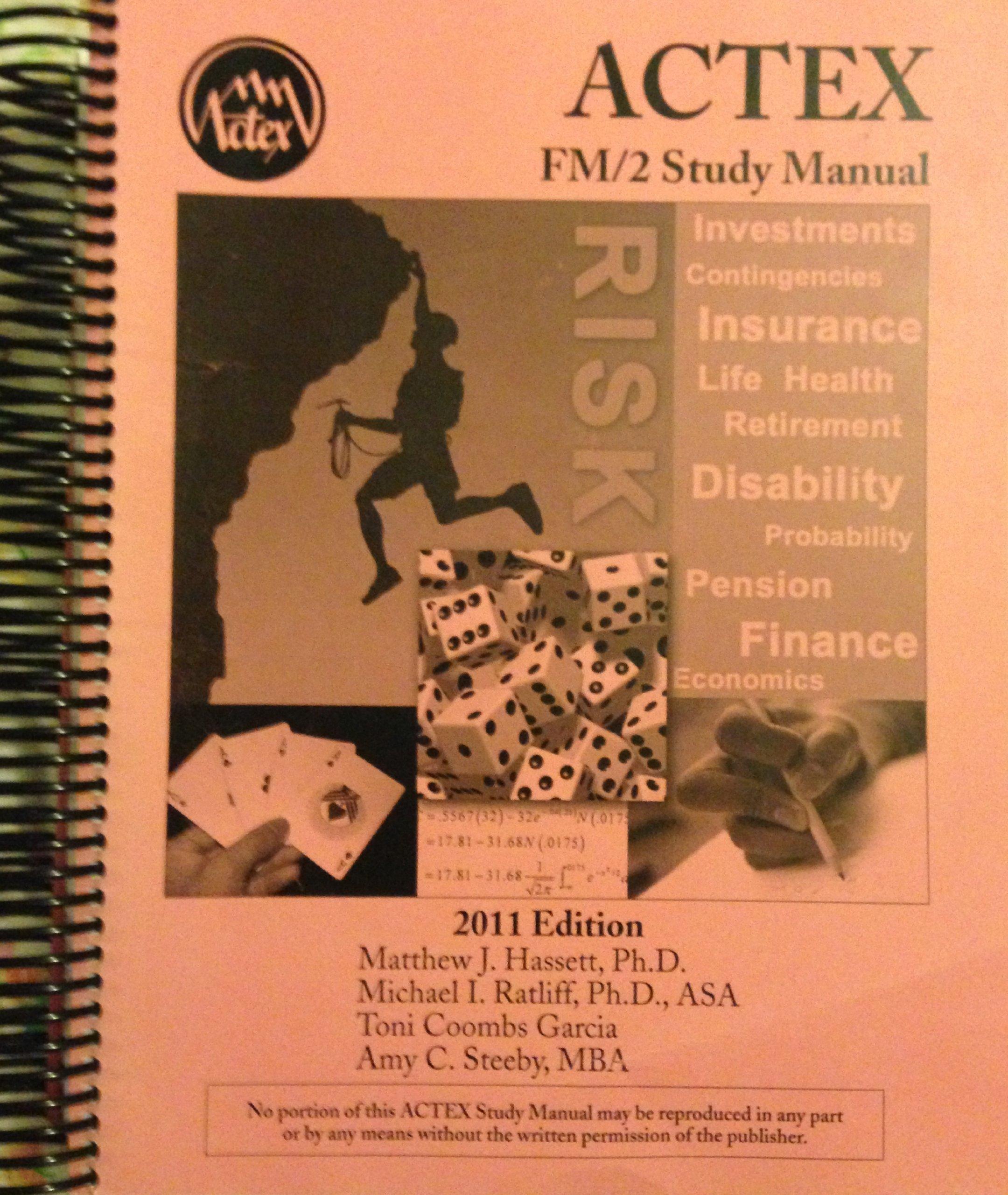 Actex study manual soa exam p cas exam 1