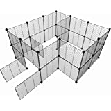 Tespo Pet Playpen, Small Animal Cage Indoor Portable Metal Wire yd Fence for Small Animals, Guinea Pigs, Rabbits Kennel Crate