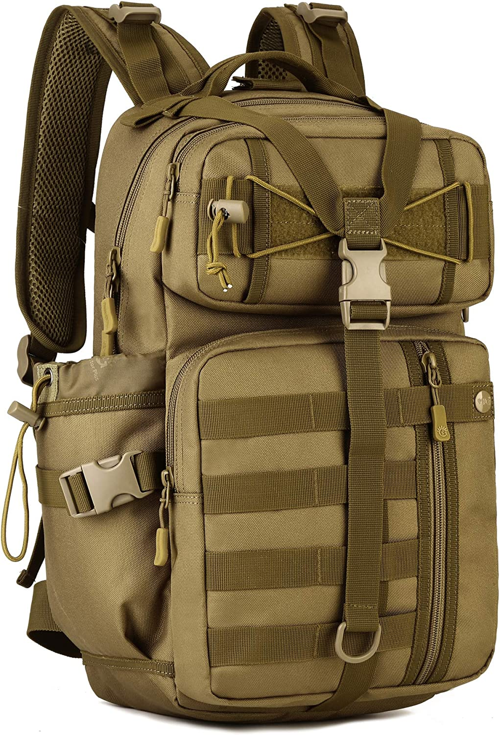 Yakmoo Assault Backpack Waterproof Tactical Military Style Daypack Molle System Student Bag Rucksack 30L for Outdoors