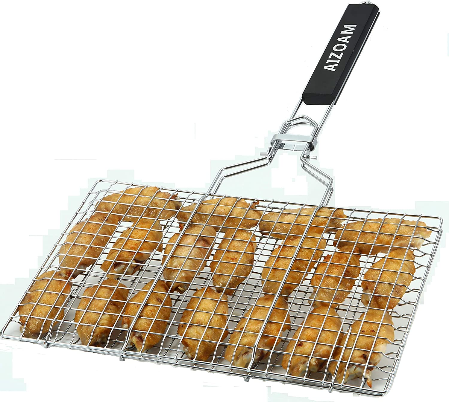 Aizoam Portable Stainless Steel Grilling Basket