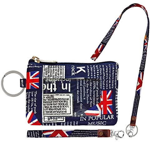 d8b1986d407a Zip ID Case, Lanyard & Wrist-let/Key Wallet/Credit Card Case Coins Purse  with ID Window, Lanyard & Wrist-let/Cute ID Holder/Badge Clips