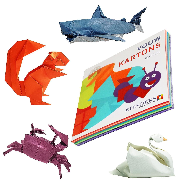 300 Sheets Origami Paper 10cm/15cm/20cm Mixed Colours ( 3 Packs ) Oxford Novelties