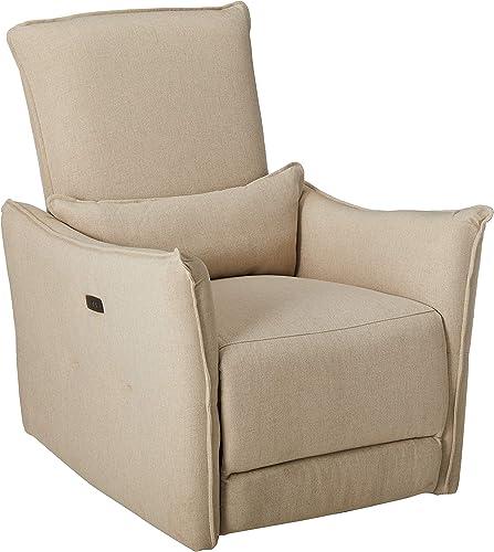 Deal of the week: Basia Plush Cushion Fabric Power Recliner Chair Wheat