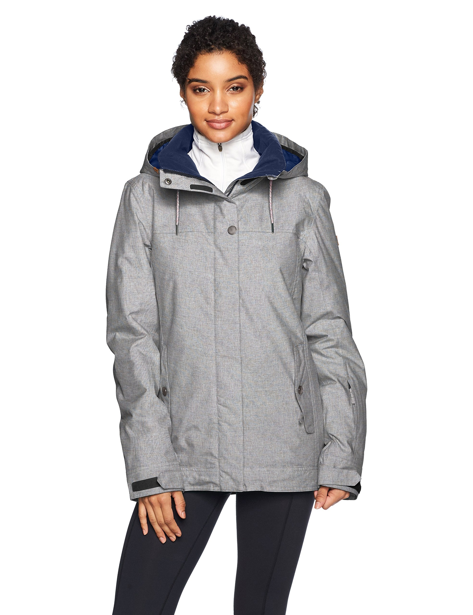 Roxy SNOW Junior's Billie Snow Jacket, Heritage Heather, S