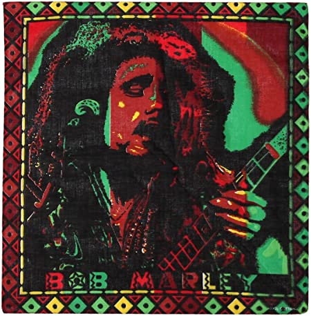 Bob Marley Rasta Jamaica Flag Head Neck Scarf Bandana