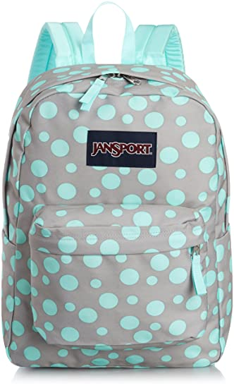 JanSport Girls' Superbreak Backpack Grey-Aqua