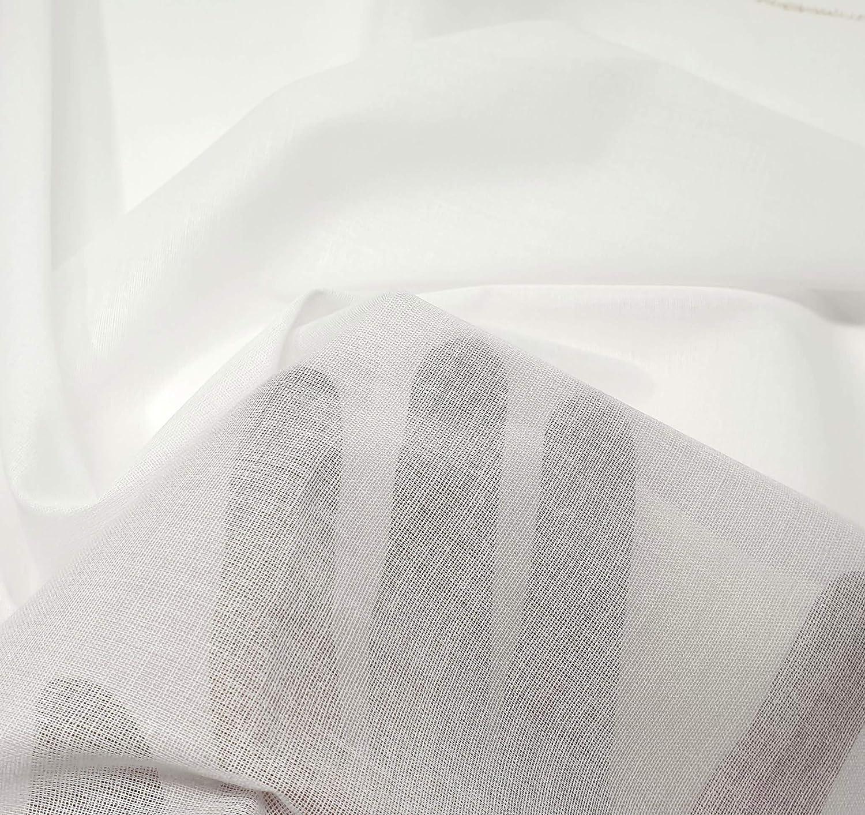 Fliselina entretela fina termoadhesiva de tela color blanco 2mts