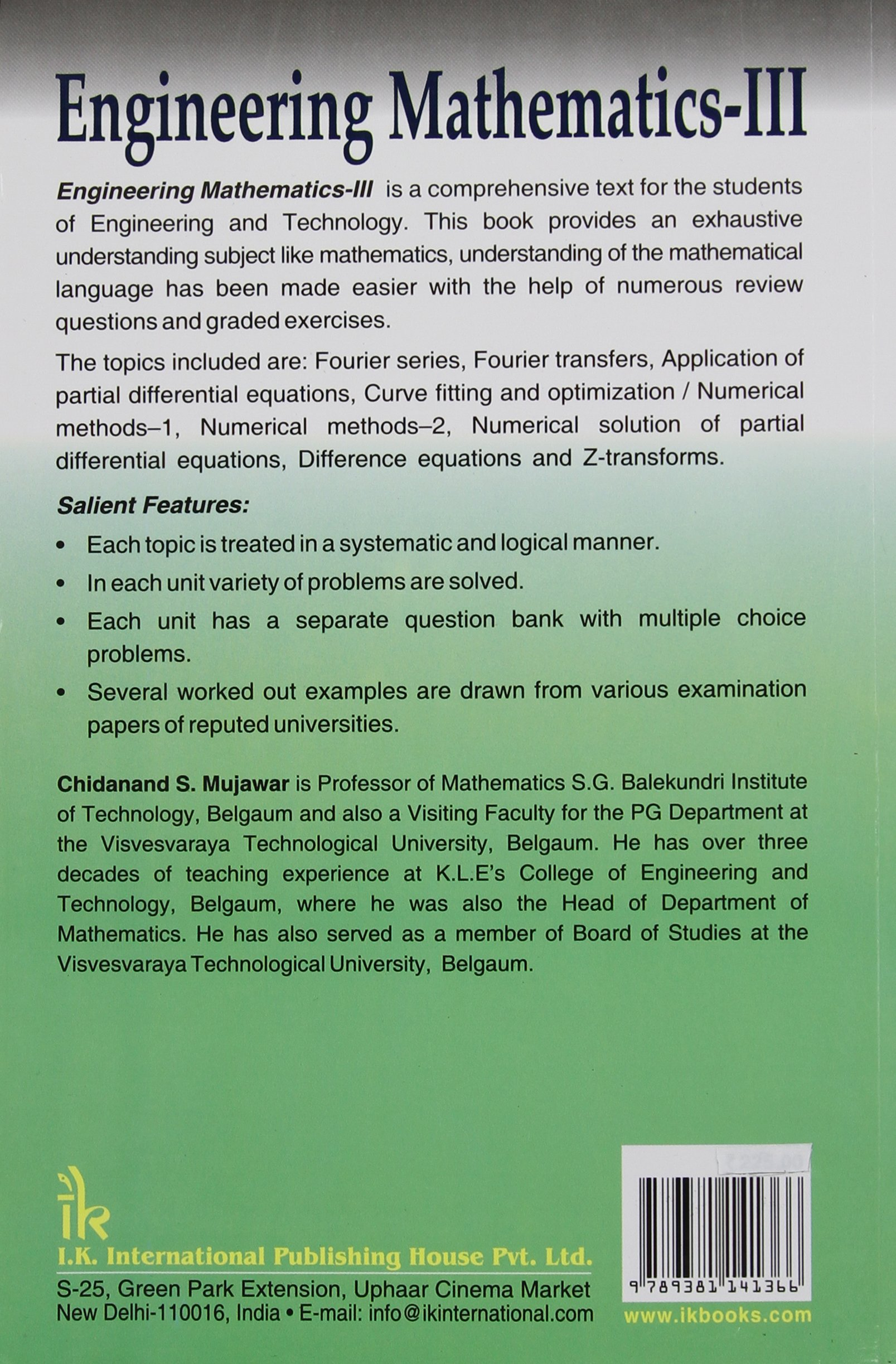 Engineering Mathematics - III: Chidanand S. Mujawar, 30 ...
