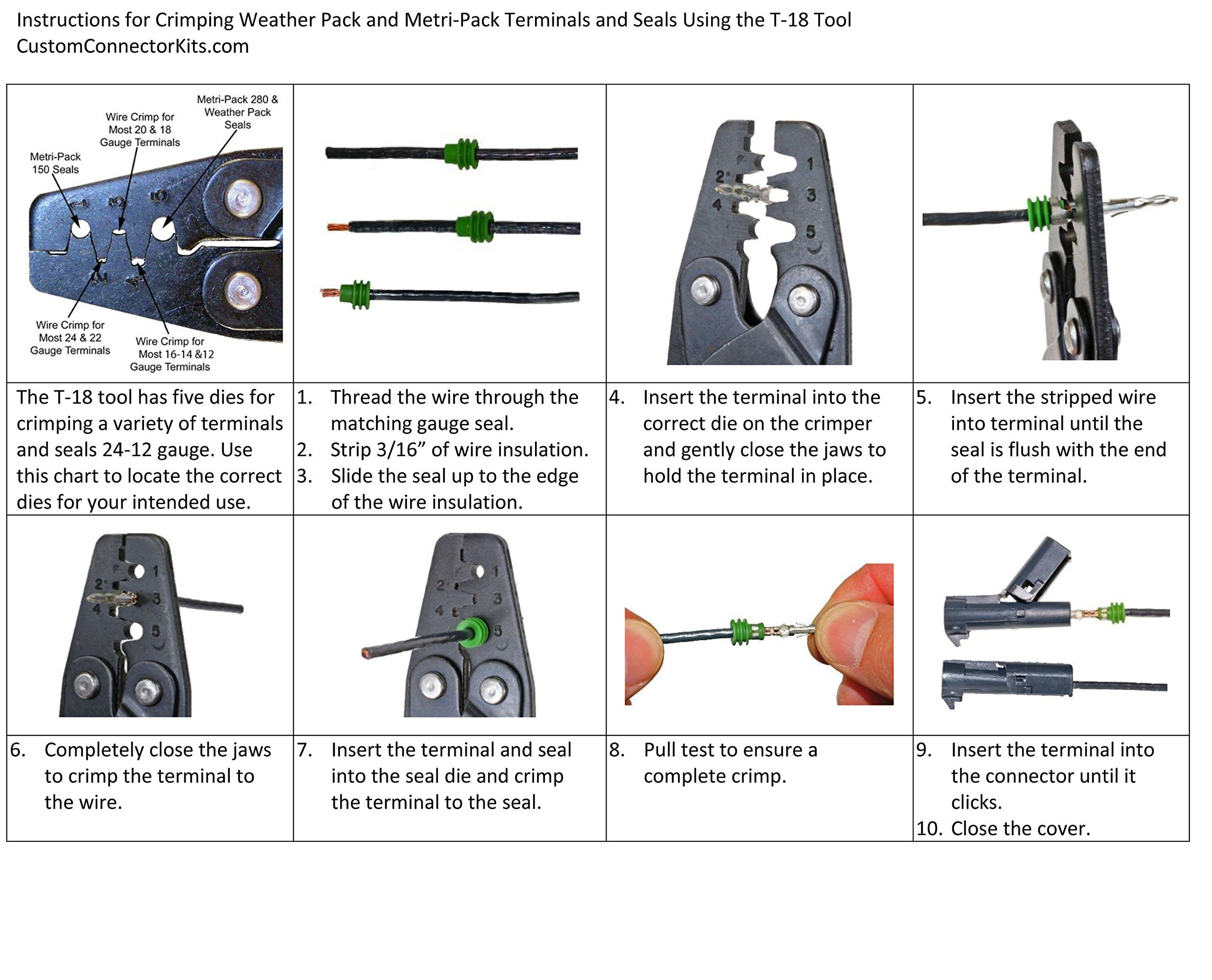 Weather Pack Bulkhead Kit 22-pin 16-14 Ga.