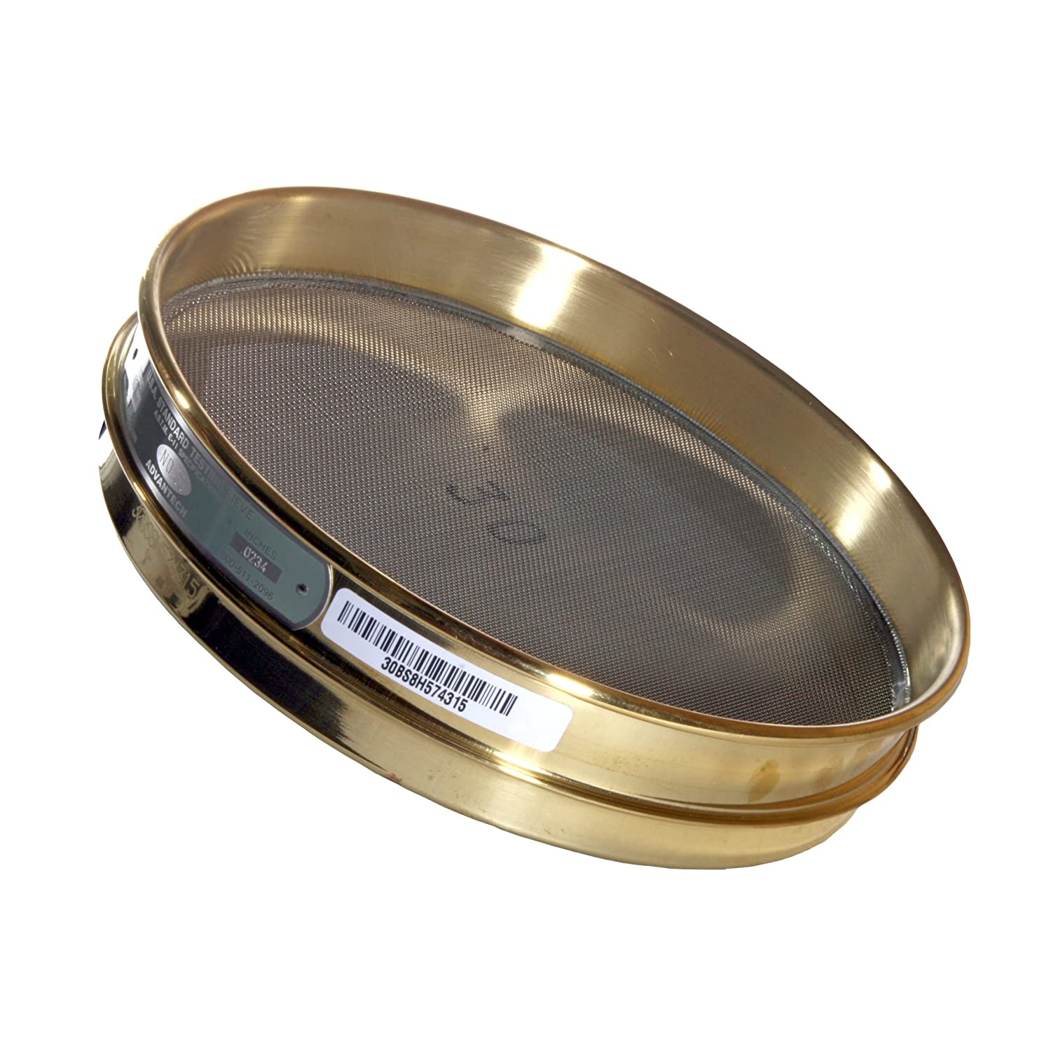 Advantech Brass Test Sieves, 8' Diameter, #50 Mesh, Full Height 8 Diameter ADV-50BB8F