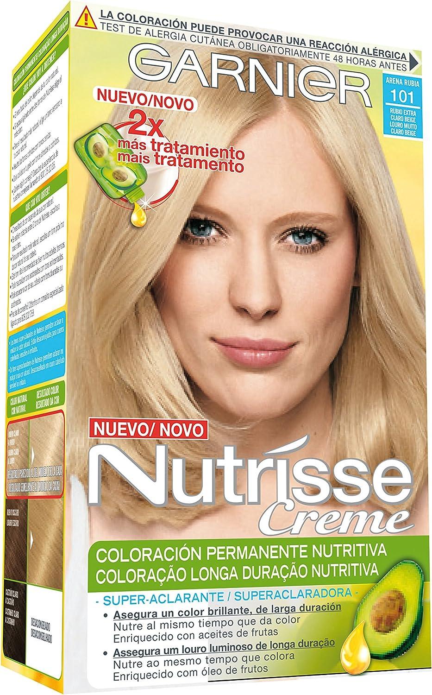 Garnier Nutrisse Coloración, Tono: 101 Rubio Extra Claro ...