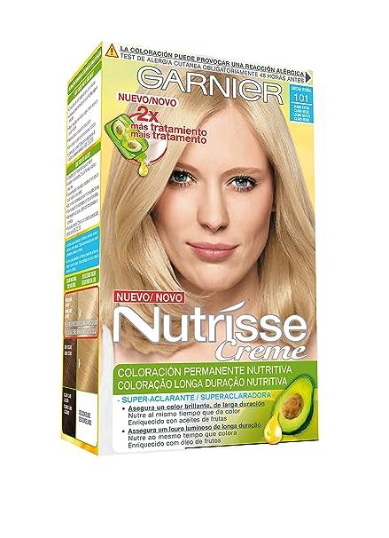 Garnier Nutrisse Coloración, Tono: 101 Rubio Extra Claro Beige -1 Unidad