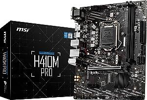 MSI H410M-PRO ProSeries Motherboard (mATX, 10th Gen Intel Core, LGA 1200 Socket, DDR4, M.2 Slot, USB 3.2 Gen 1, 2.5G LAN, D-SUB/DVI/HDMI)
