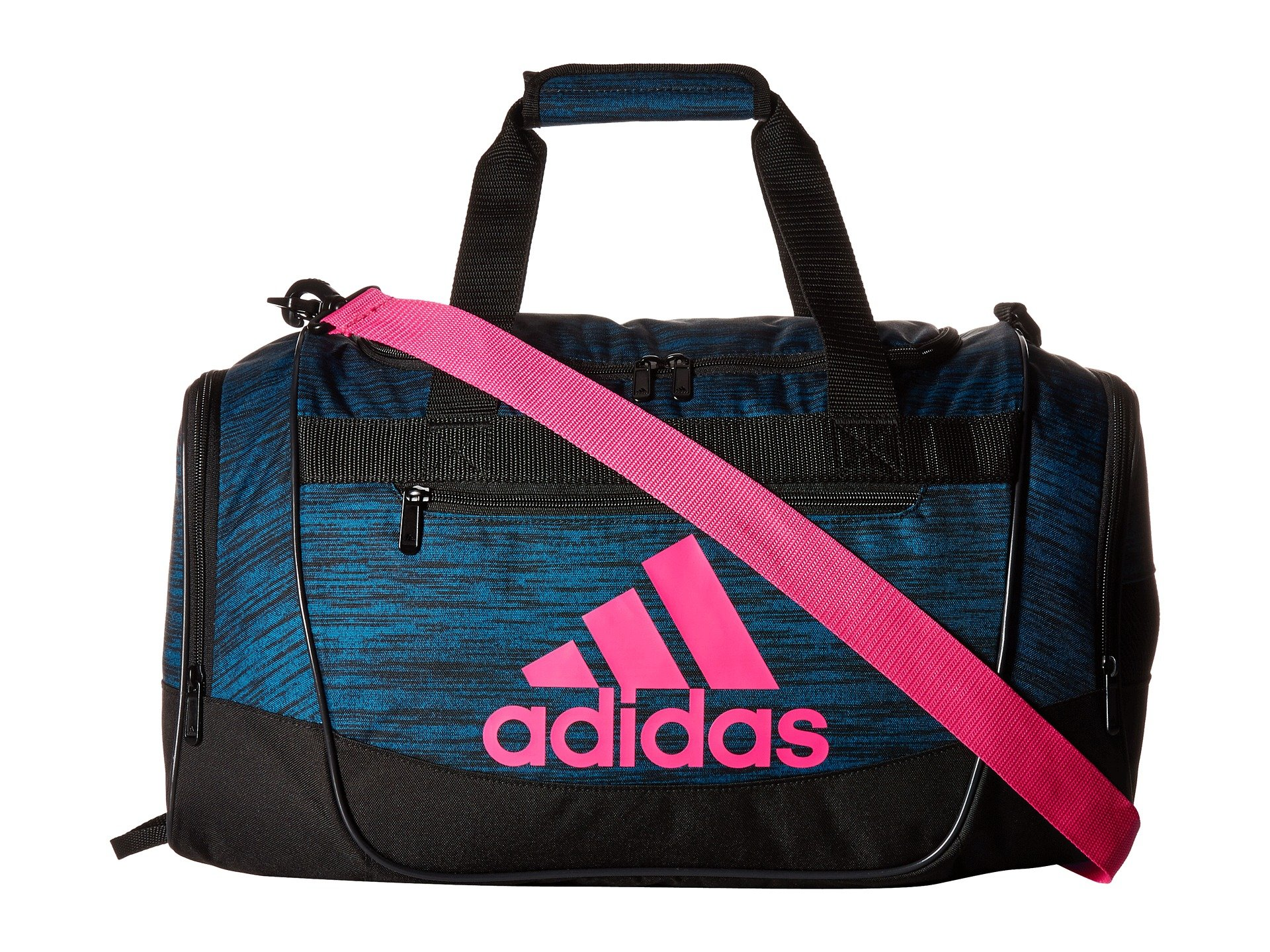 ebc9e404c95 Galleon - Adidas Unisex Defender III Small Duffel Real Teal React/Black/Shock  Pink One Size