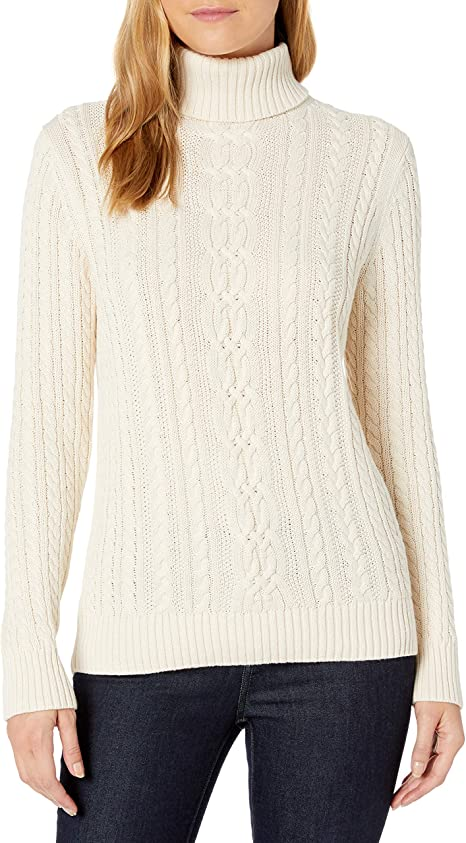 Essentials Fisherman Cable Turtleneck Sweater Donna