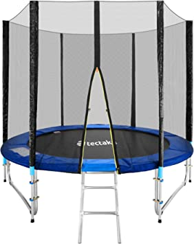 TecTake Cama elástica trampolín para Jardin con Red de Seguridad Escalera - Varias tamaños - (Ø 244cm | No. 401331): Amazon.es: Deportes y aire libre