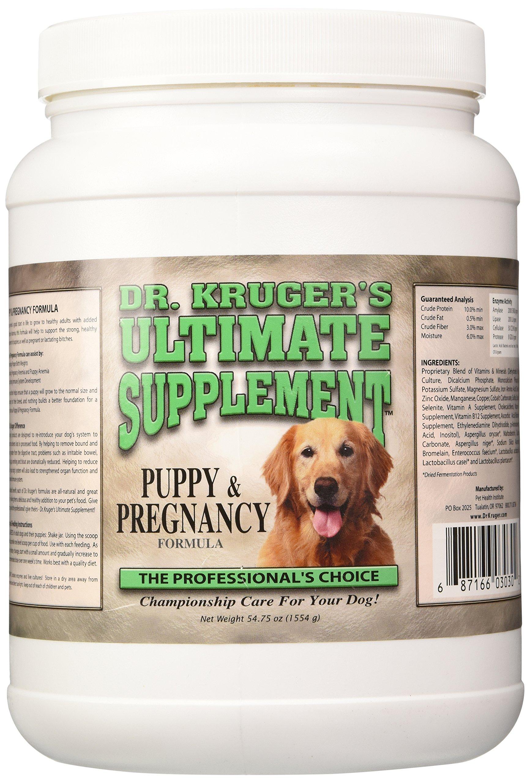 Dr Kruger's Pet Supplements Puppy & Pregnancy Food Formula, 54.75-Ounce