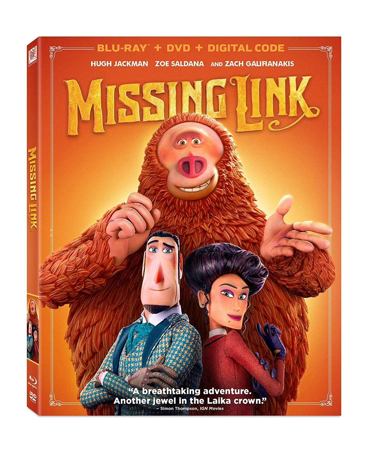 Amazon Com Missing Link Blu Ray Hugh Jackman Zoe Saldana