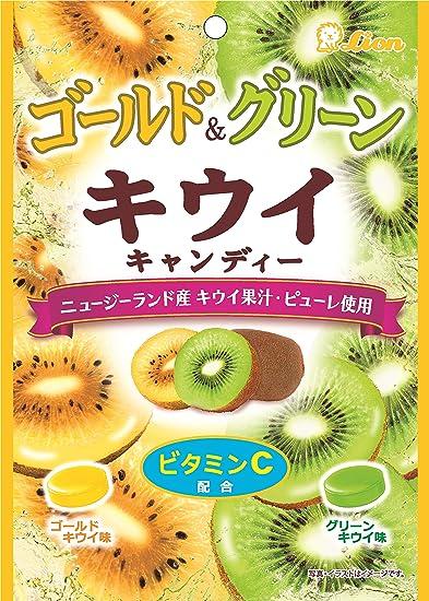 Leoen de confiteria oro y verde del kiwi bolsas de dulces 72gX6
