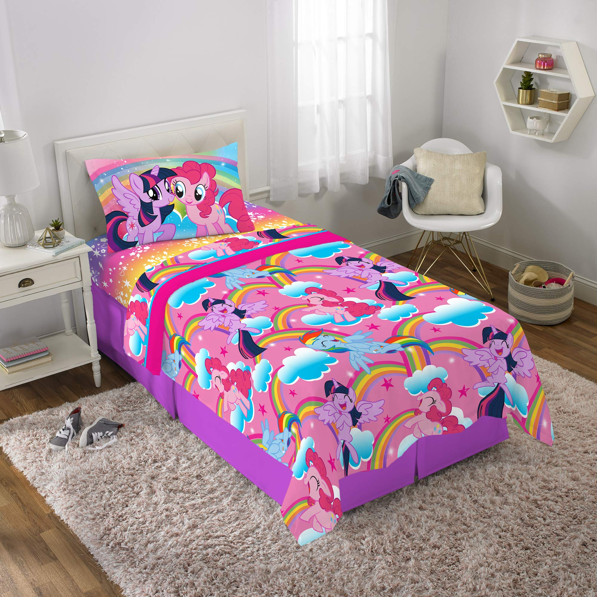 Franco Kids Bedding Super Soft Microfiber Sheet Set, 3 Piece Twin Size, Hasbro My Little Pony by Franco (Image #2)