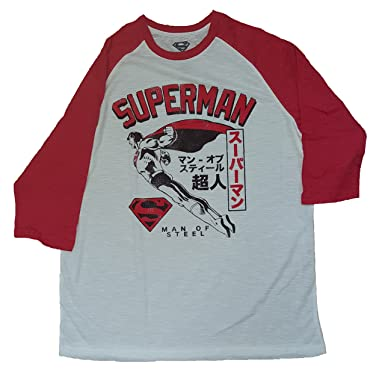 93ad2a033 Fashion DC Comics Superman White 3/4 Sleeve Graphic T-Shirt - Small
