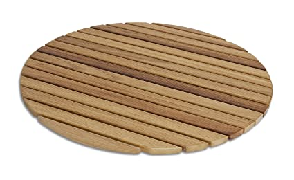 Diseños y fabricados en madera pedana tappetino flessibile circolare