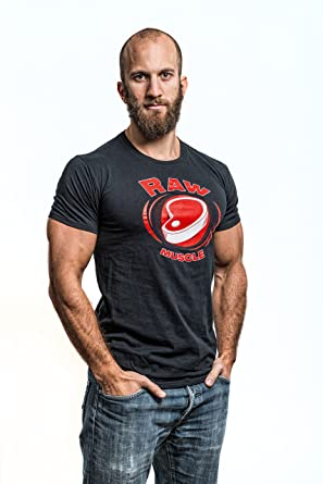 "eccf1733a Natural Athlet® ""RAW MUSCLE Natural Bodybuilder Mens T-Shirt - Flavio  Simonetti"