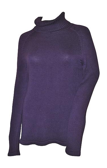Pria Women's Cowl Neck Deep Velvet Purple Sweater at Amazon ...
