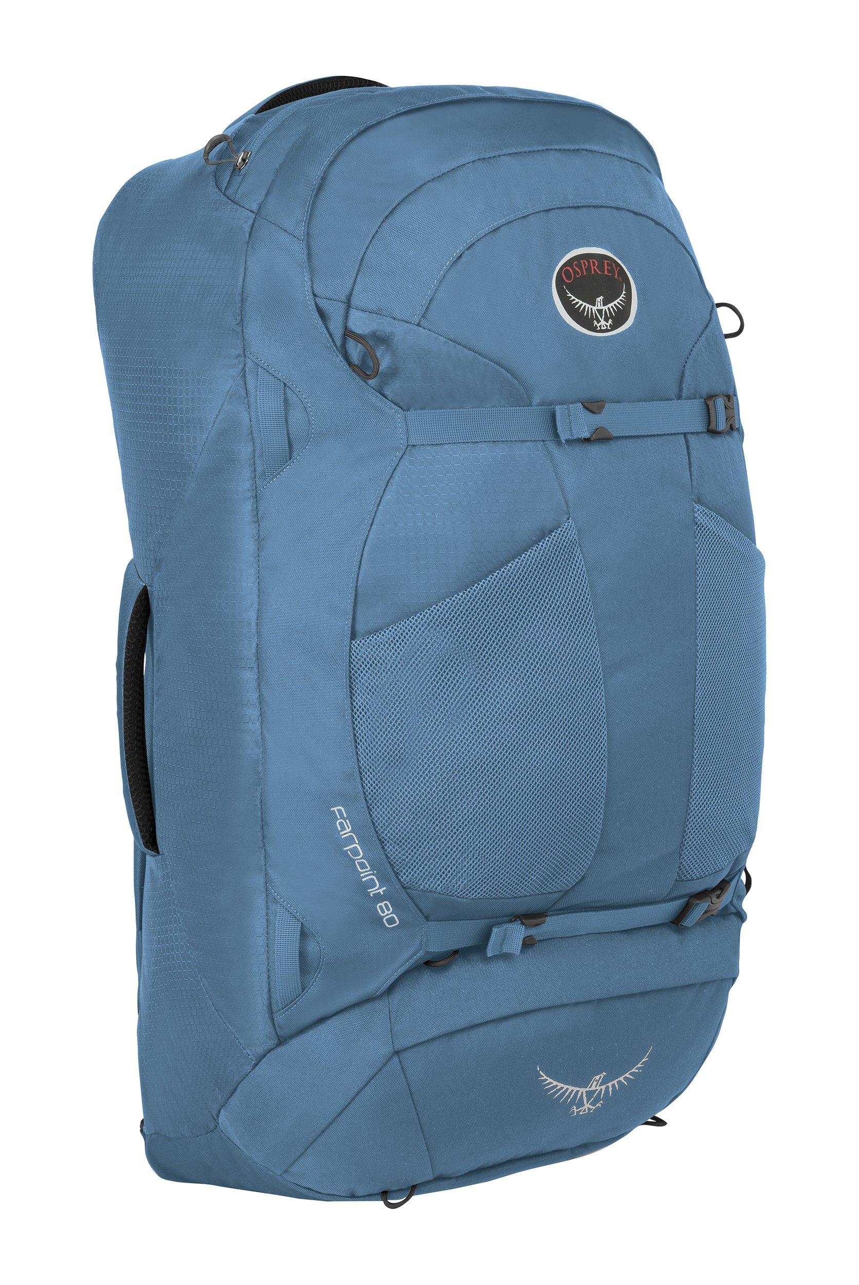 Osprey Packs Farpoint 80 Travel Backpack, Caribbean Blue, Small/Medium by Osprey