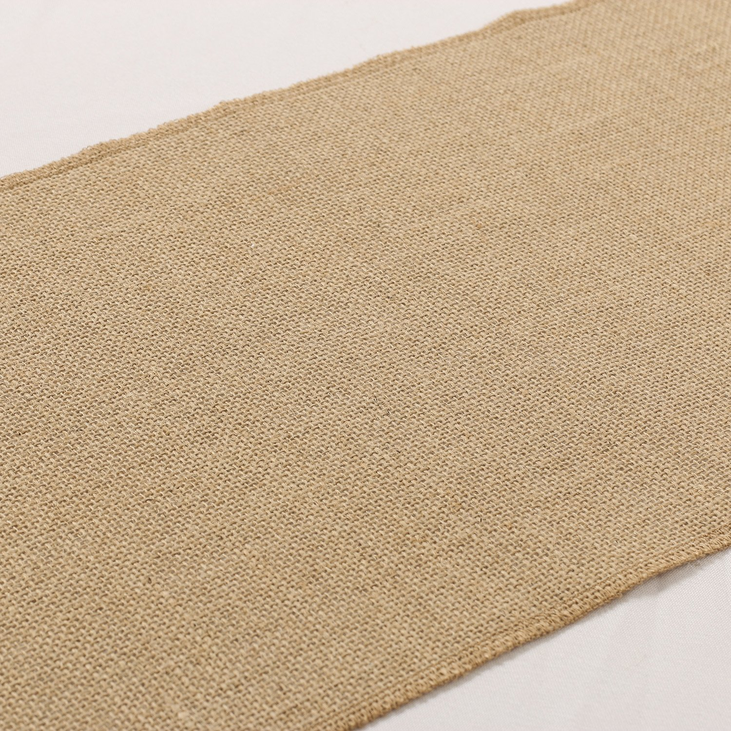 Ling's moment 12''x108'' Nearly Natural Burlap Wedding Table Runner Jute Spring Summer Easter Decoration Country Rustic Wedding Decorations Farmhouse Kitchen Decor by Ling's moment (Image #5)