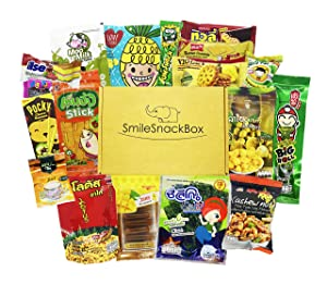 SmileSnackBox Asian Thai Yummy Snacks Variety Pack for Adults Kids Teens - Snacks Box Care Package No. M1 (15 Count)