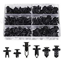 Ginsco 102pcs 6.3mm 8mm 9mm 10mm Bumper Push Fasteners Rivet Clips Expansion Screws Replacement Kit