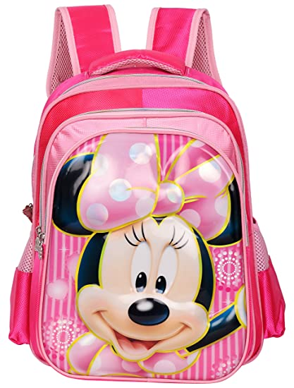 20656535e07 Disney Polyester 24 Ltr Pink School Backpack  Amazon.in  Bags ...
